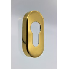 Stainless Steel Grade 304 Escutcheon - Oval- PVD Gold Finish
