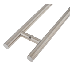 Inline Pull Handle Stainless Steel Set Grade 316 1200mm x 32mm Satin