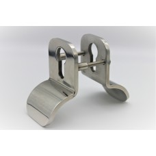 Stainless Steel Pull Escutcheon Back to Back for Eurocylinder Polished Finish
